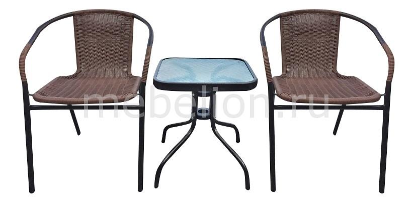 Набор уличный Afina Асоль-3А TLH-037AR2/055S-45х45 Cappuccino 2Pcs стол afina garden асоль cdt01 d60