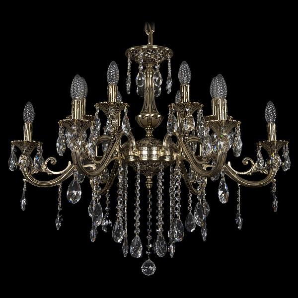 Подвесная люстра 1703/12/320/B/GB Bohemia Ivele Crystal  (BI_1703_12_320_B_GB), Чехия