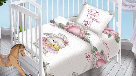 Постельное белье в кроватку Зайка-Балерина DTX_8799-439