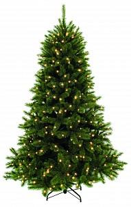 Ель новогодняя [2.15 м] Лесная красавица с лампами зеленая 73705