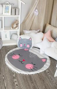 Набор из пледа детского и подушки (90x90 см) Кошечка