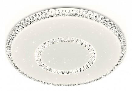 Потолочный светодиодный светильник Orbital Crystal AMBR_F99_WH_96W_D500