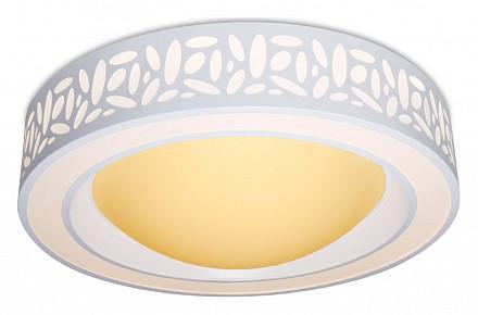 Светодиодный потолочный светильник от 33 см Orbital Design AMBR_F210_WH_96W_D520