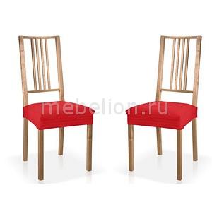 Купить Чехол для стула, Набор из 2 чехлов для стульев ИБИЦА, Belmarti, красный, полиэстер 50%, хлопок 45%, нейлон 5%