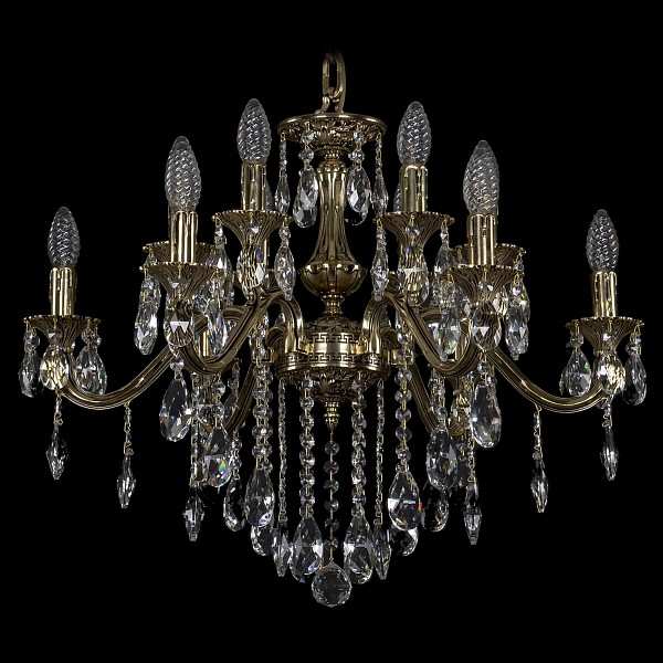Подвесная люстра 1703/12/225/B/GB Bohemia Ivele Crystal  (BI_1703_12_225_B_GB), Чехия