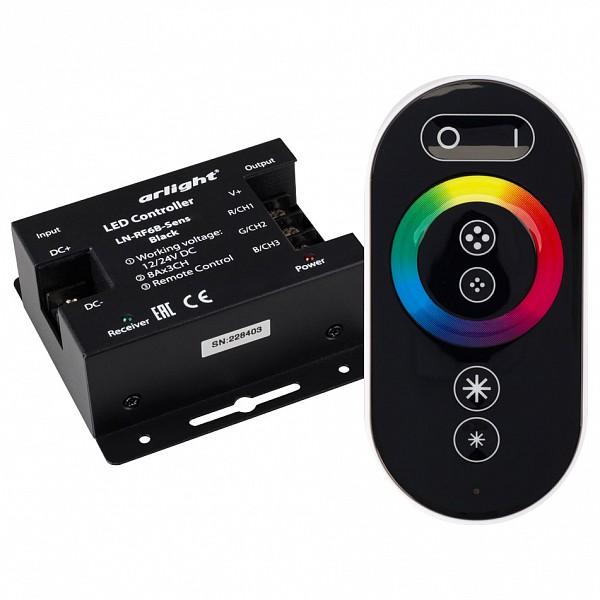 Контроллер-регулятор цвета RGB с пультом ДУ LN-RF6B-Sens Black (12-24V, 3x8A)