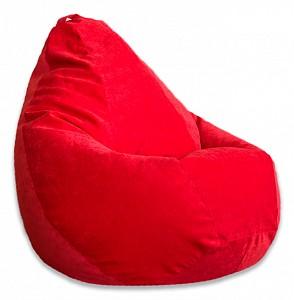 Кресло-мешок Красный Микровельвет L