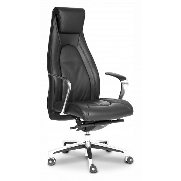 Кресло для руководителя Chairman Fuga черный/хром, черный CHA_6108123
