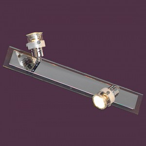 Спот поворотный Perspicuo, 2 лампы GU10 по 50 Вт., 5.56 м², цвет белый с неокрашенной каймой глянцевый