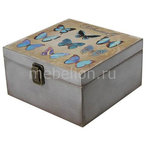 Шкатулка декоративная Акита (24х24х13 см) Бабочки 1012-9 бабочки 9 цв