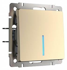 Выключатель одноклавишный с подсветкой без рамки шампань W1110111