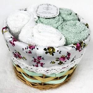 Набор из 6 полотенец для рук (30x30 см) Евита