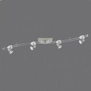 Спот поворотный Тея, 4 лампы GU5.3 по 35 Вт., 3.25 м², цвет никель матовый