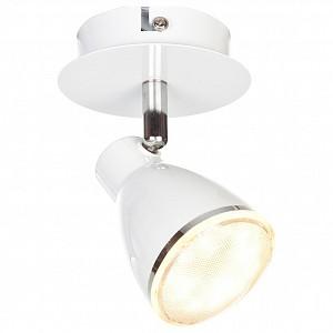 Спот поворотный 10208, 1 лампы  по 5 Вт., 1.43 м², цвет белый матовый