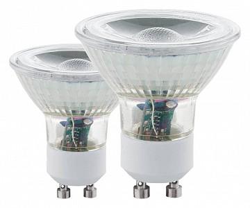 Комплект из 2 ламп светодиодных COB GU10 50Вт 3000K 11475