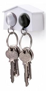 Ключница (6.3х4 см) Qualy QL10185-WH-WH-BK