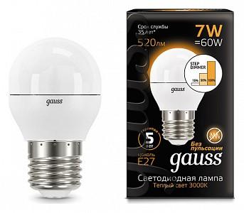 Лампа светодиодная [LED] Gauss E27 7W 3000K