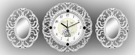 Набор из настенных часов и 2 зеркал (35см) Galaxy 73-SET-3