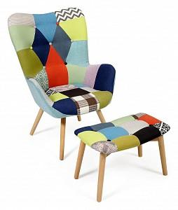 Кресло Secret De Maison Kontour с оттоманкой (mod.1534L)