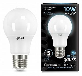 Лампа светодиодная E27 150-265В 10Вт 4100K 102502210