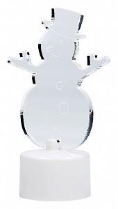 Снеговик световой [10 см] в шляпе 2D 501-043