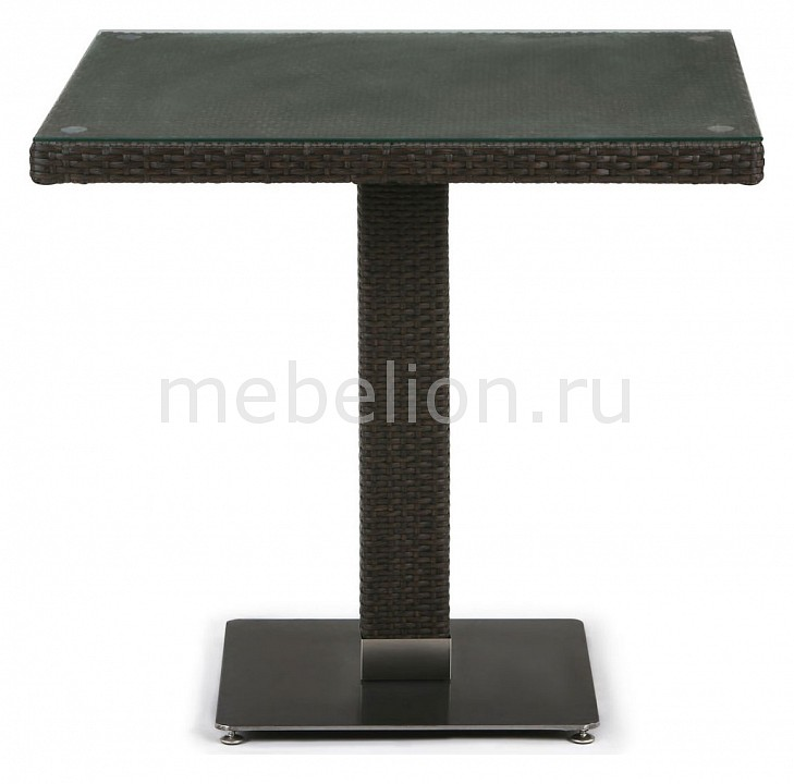 Стол Afina AFN_T606SWT-W53-80x80_Brown от Mebelion.ru