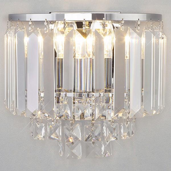 Накладной светильник Torreta 10105/2 хром/прозрачный хрусталь Strotskis Eurosvet EV_a045302