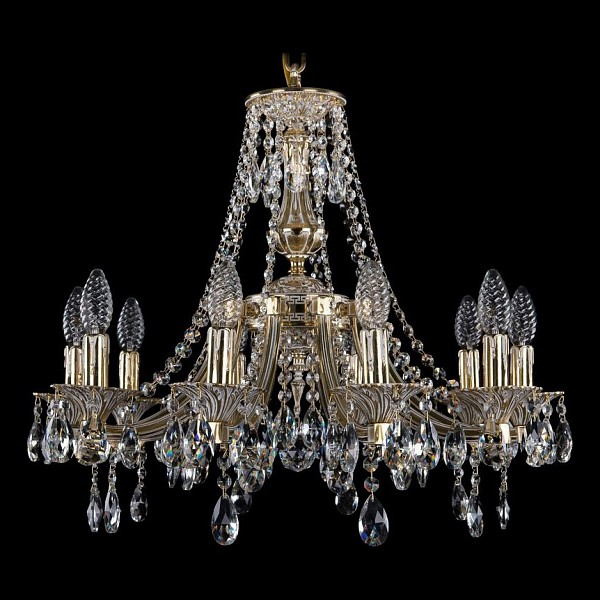 Подвесная люстра 1771/10/190/A/GW Bohemia Ivele Crystal  (BI_1771_10_190_A_GW), Чехия