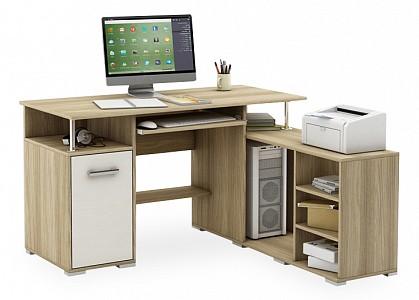Угловой компьютерный стол Амбер-10 MAS_KSAM-10-SHSB
