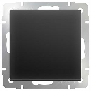 Выключатель проходной одноклавишный без рамки Черный матовый WL08-SW-1G-2W