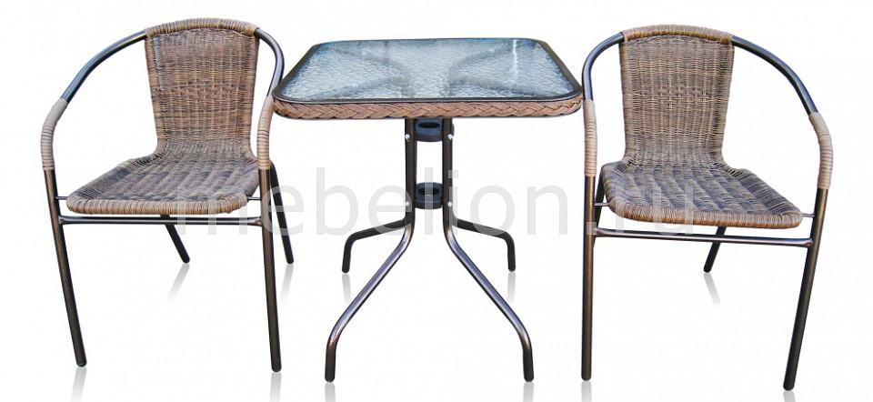 Набор уличный Afina Асоль-2А TLH-037AR2/060SR-60х60 Cappuccino 2Pcs стол afina garden асоль cdt01 d60