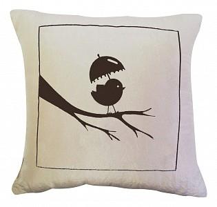 Подушка декоративная (45х45 см) Птичка 215