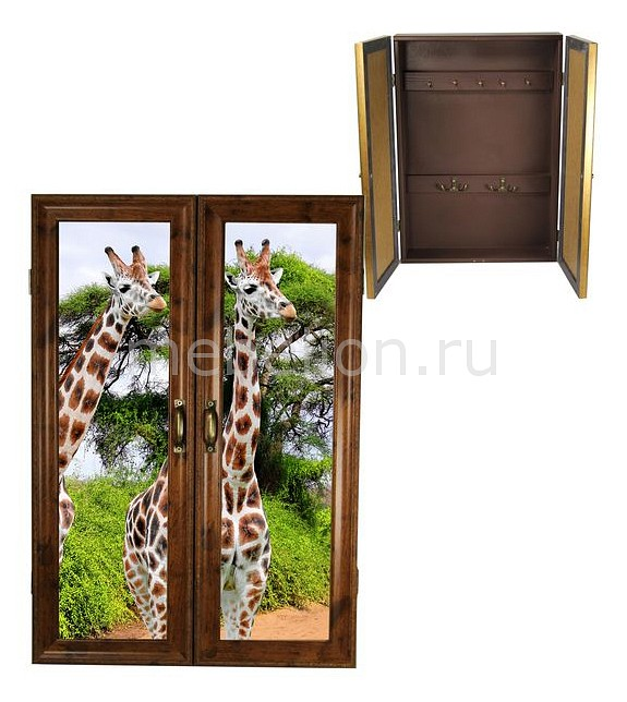 Ключница Акита (32х46 см) Жирафы 311-24 ключница акита 23х33 см каретная стяжка 7360