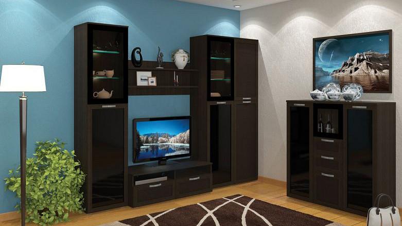 Гостиная MOBI MOB_Domino2_stenka_venge от Mebelion.ru