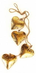Елочная гирлянда (65x11 см) Golden Hearts en_ny0027