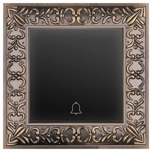 Кнопка звонка Antik (Черный матовый) WL07-TV+WL08-04-01
