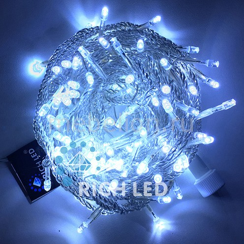 Электрогирлянда RichLED RL_RL-S10C-24V-T_W от Mebelion.ru