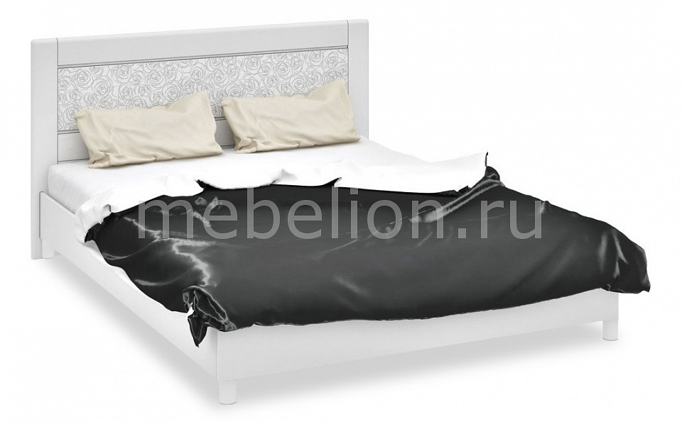 Кровать двуспальная Амели СМ-193.01.002 белый глянец
