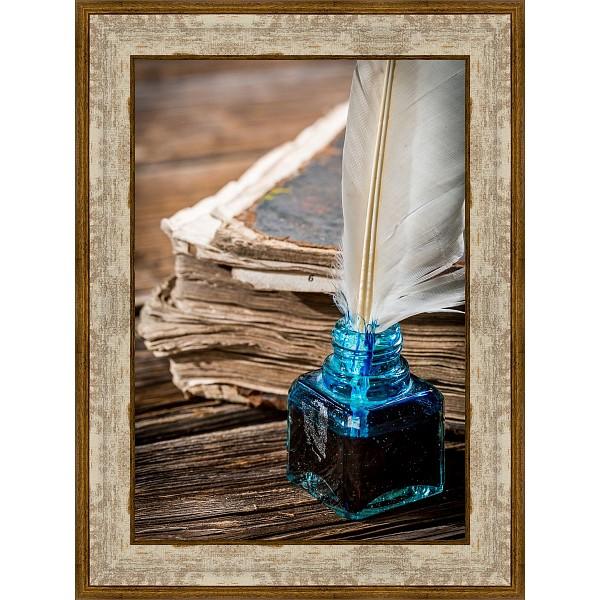 Картина (30х40 см) Чернильница с пером BE-103-405 фото