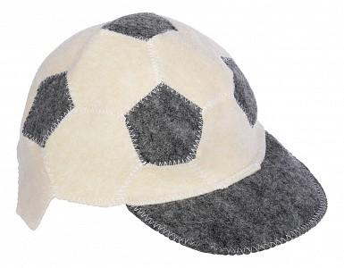 Шапка для бани универсальная Футбольный мяч