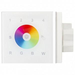 Панель-регулятора цвета RGBW сенсорная встраиваемая Sens SR-2812-IN White (12-24V, RGBW, DMX, 4зоны)