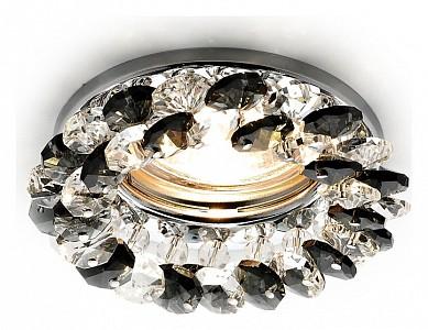 Встраиваемый светильник черного цвета Crystal K206 AMBR_K206_BK_CH