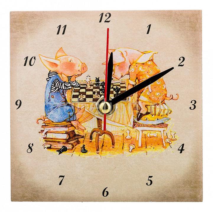 Настольные часы АРТИ-М (10x10 см) Свинки 354-1643 арти м 30х60 см уютный дворик 354 920