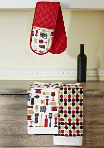 Полотенце с прихваткой Дизайн Ар-деко