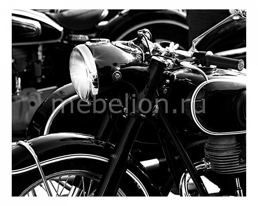 Панно Ekoramka (50х40 см) Винтажный мотоцикл 1718053К5040 панно ekoramka 50х40 см ландыши 1727008к5040