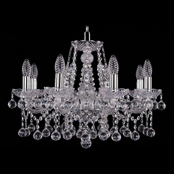 Подвесная люстра 1413/8/200/Ni/Balls Bohemia Ivele Crystal  (BI_1413_8_200_Ni_Balls), Чехия