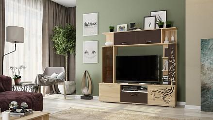 Стенка под ТВ для гостиной Ника MBS_CTV-007