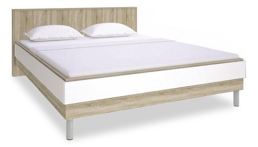 Кровать двуспальная Ирма СТЛ.143.11 дуб сонома/белый глянец