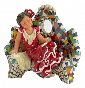 Статуэтка (8.5 см) Отдыхая на скамейке 784608
