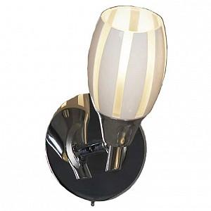 Спот поворотный Brindidi, 1 лампы E14 по 6 Вт., 1.6 м², цвет белый полосатый глянцевый